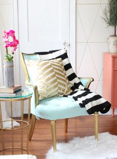 #living #home #decor #mint #coral #eclectic #style #interior #design #diybazaar #colors #black #white #stripes