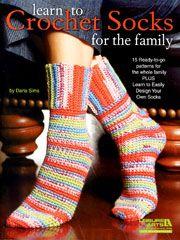 Learn to Crochet Socks for the Family