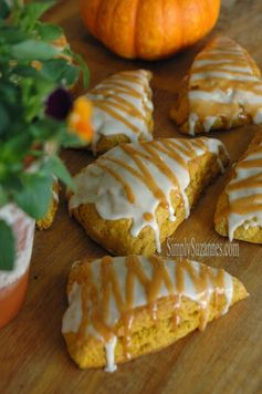 Simply Suzanne's AT HOME: pumpkin scones with pumpkin spice icing