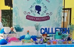 Frozen theme #dessertstation #frozenparty by: #mishees