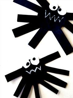 Araignées en papier à fabriquer pour Halloween