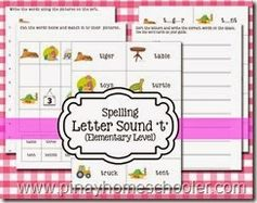 Free Spelling Sheets (s,a,t)