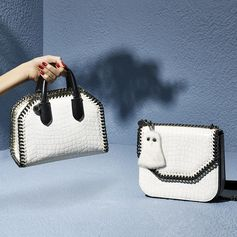 It's a white out with the bag of the season - the #FalabellaBox. Discover new variations at #StellaMcCartney.com