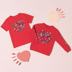 Say it with love. ❤️ Exclusive Valentine's Day inspired pieces feature heart embroidery for Stella girls and boys. Shop at #StellaMcCartney.com  #StellaMcCartneyKids #StellaKids
