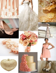 Peach and gold