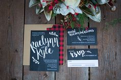 Christmas wedding stationery | Rustic Christmas Wedding | Shelly Taylor Photography