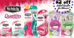 Schick:  $2 off Quattro for Women Razor Coupon!