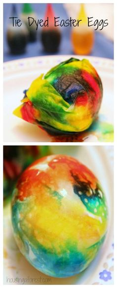 Tie Dyed Easter Eggs ~ Simple way to color easter eggs
