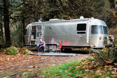 This retro airstream trailer lets you take tiny living on the road.
