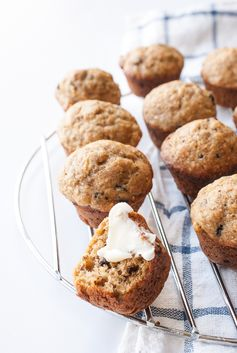 Low Sugar Peanut Butter Banana Muffins - A delightful on-the-go breakfast or snack.
