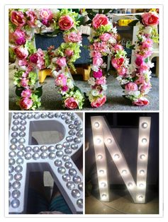 Letter Standees by: Mishees #events #eventstyling #letterstandees   email us: mishees@gmail.com