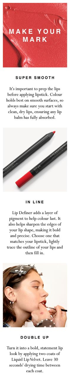 Learn how to make your new Burberry Liquid Lip Velvet colour last in three quick and easy steps. Shop the products at www.brby.co/5lc
