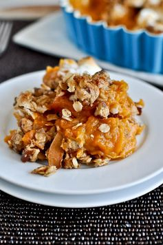 Lightened-Up Sweet Potato Casserole by howsweeteats.com - A lighter version of a classic holiday dish.