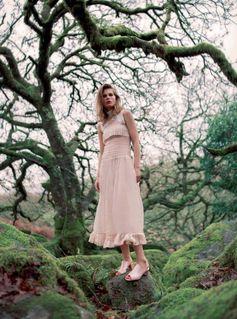 In fairytale land Caroline Brasch Nielsen in Harpers Bazaar UK, May 17