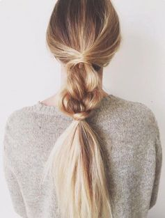 Hairstyles for Girls Who Can't Style Their Hair | Messy Half-Braid