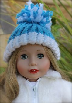 One of a kind hats for American Girl. Available at www.harmonyclubdolls.com