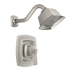 Boardwalk Spot Resist Brushed Nickel 1-Handle WaterSense Shower Faucet with Single Function Showerhead
