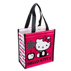 Insulated shopper tote with Hello Kitty
