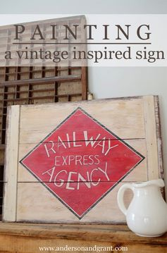 anderson + grant: Painting A Vintage Sign That Has Meaning