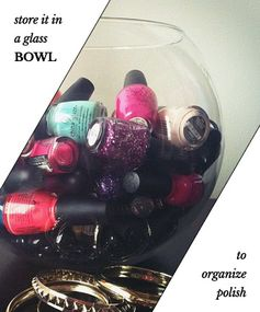 Put Your Polish Where You Can See It - Organize Nail Polish