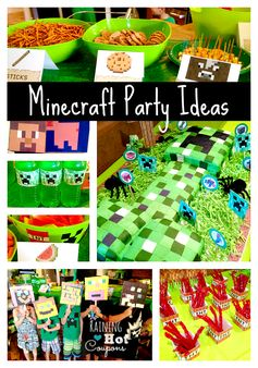 Minecraft Party Ideas (TONS of SUPER Cute Ideas!!!) - Click Image