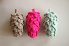 Crochet pine cones #free #crochetpattern #tutorial