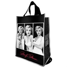 Head out with the Vandor packable and eco-friendly shopper tote. Perfect for shopping and toting, they feature the iconic Marilyn Monroe