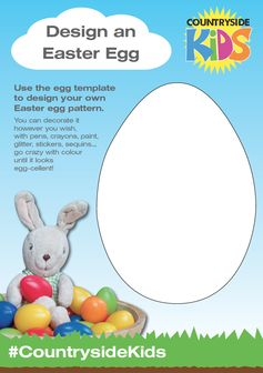 Easter Activity Sheets. Rainy day or just need a bit of down time, design your own Easter egg pattern with this blank egg template.