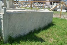Ottoman sarcophagus from the antik kent of Smyrna, 1400AC