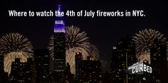 The best locations in New York City for watching the 4th of July fireworks.