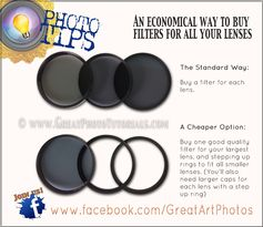 Photo Tip – How to save money on camera filters.