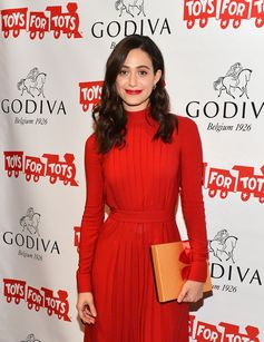 """Actress Emmy Rossum hosts """"Hot Chocolate for a Cause"""" benefit at Godiva on November 30, 2015 in New York City."""