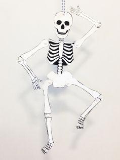 Fabriquez ce pantin squelette en papier pour Halloween
