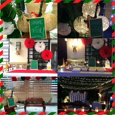 #christmasparty #starseffect #lanterns #lamps #pompoms #christmaslights by: mishees