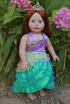 Mermaid princess fits American Girl. Doll by Harmony Club Dolls. Visit our store http://www.harmonyclubdolls.com