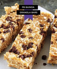 PB Quinoa Granola Bars