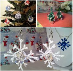 A trio of holiday/winter themed crochet patterns easy to make in less than a day.