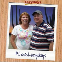 Happy trails to Allen and Catherine who purchased their 2013 #Phoenix #Cruiser from #Lazydays #Tampa!