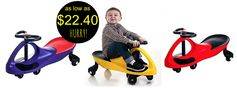 Staples.com:  Lil Rider Wiggle Car Ride On = as low as $22.40 + FREE Shipping! Regularly $69.99!