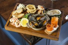 Seafood at Wrights Findlater Restaurant Howth Dublin Ireland