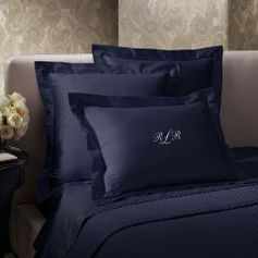 Polo Navy Sateen Sham - Ralph Lauren Home Solid Shams - RalphLauren.com
