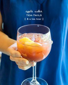Apple Zinger Tea-tails - When tea time meets cocktail hour.