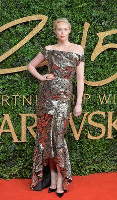 Best Dressed at the British Fashion Awards 2015 | Gwendoline Christie