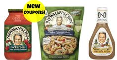 Newman's Own: 3 New Pasta Sauce, Complete Skillet Meal & Salad Dressing Coupons!