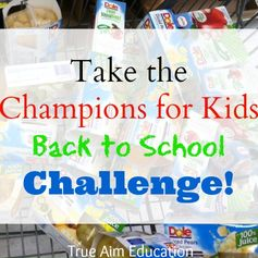 Take the Dole Champions for kids back to school challenge and help children in need receive healthy snacks.
