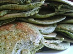 Spinach and kale pancakes