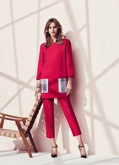 From delicate blooms to chic suiting, the most exquisite shade of cherry red informs the new Ferragamo Spring 2017 women's collection. Here, three signature looks to wear now and throughout the new year. ferragamo.com/