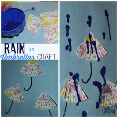 Rain and Umbrella Crafts - Lovely Commotion