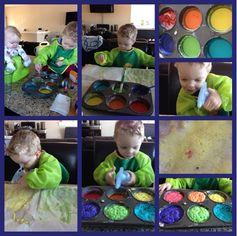 Fizzing paint - preschool activity