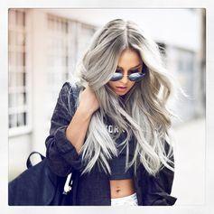 Grey #grannyhair Style ideas